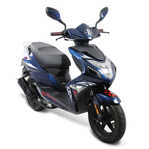 Fighter R8-25 Sport 25 km/h dunkelblau Motorroller Roller Scooter