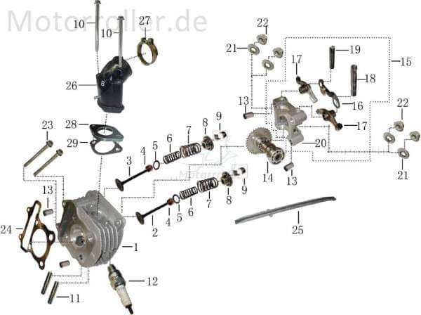 Nockenwelle mit Kipphebel Arretierung 34 31120803-2