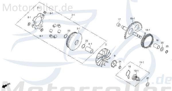Variatorscheibe i- kompl- Ot-00 DAE-2210A-SA1-0102-EU