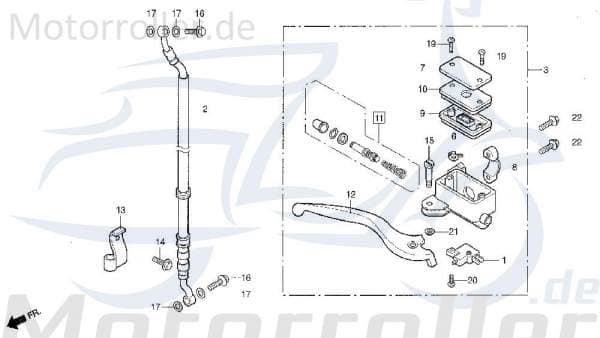 Bremsschlauch vorn Handbremszylinder DAE-45126-SA1-0100