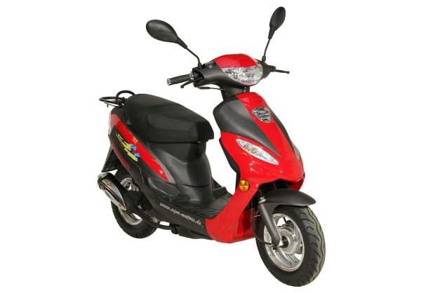 GMX 450 Motorroller, Scooter, Mokick 45 km/h rot/schwarz Euro 4