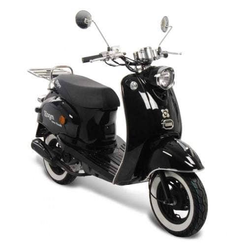 GMX 460 Retro Classic NF Edition Motorroller 25 km/h schwarz
