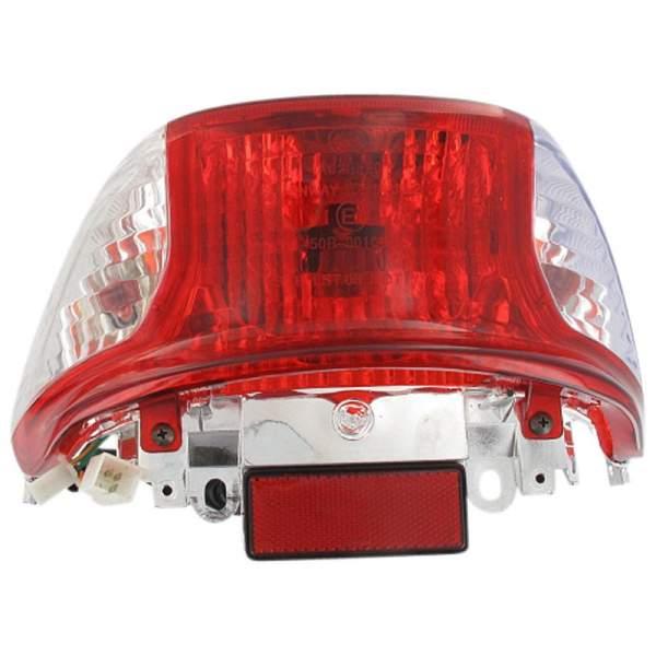 Rücklicht klare Blinker für Modelle mit Metalltank 1010419-1 Motorroller.de Rückstrahler Rück-Leucht