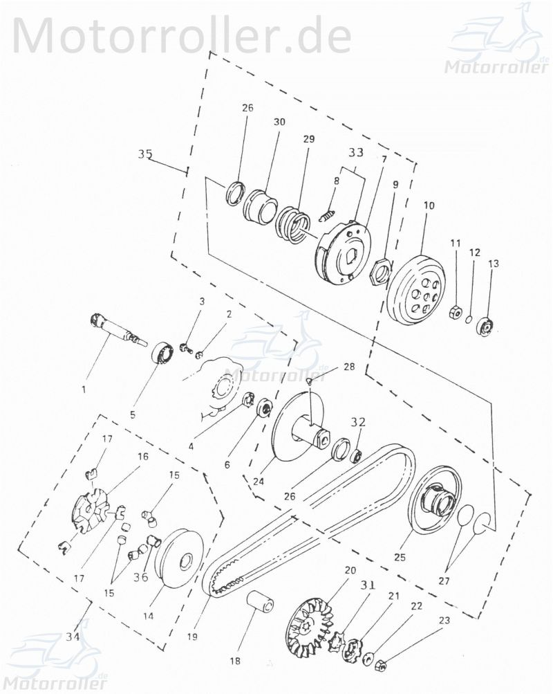O-Ring Dichtung 7x2.8mm Getriebeeingangswelle AC 1E40QMB 50ccm 2Takt Dichtring